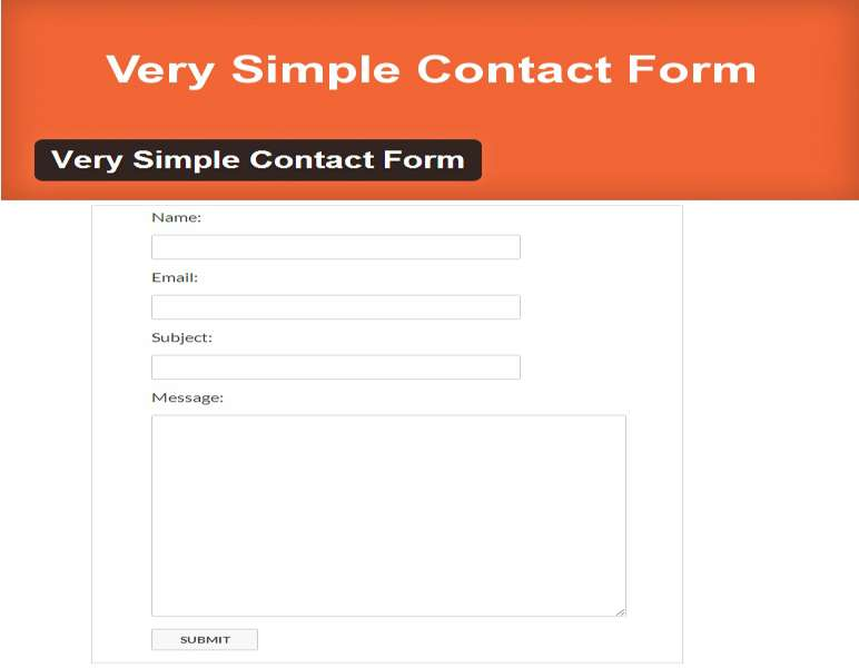 very simple contact form
