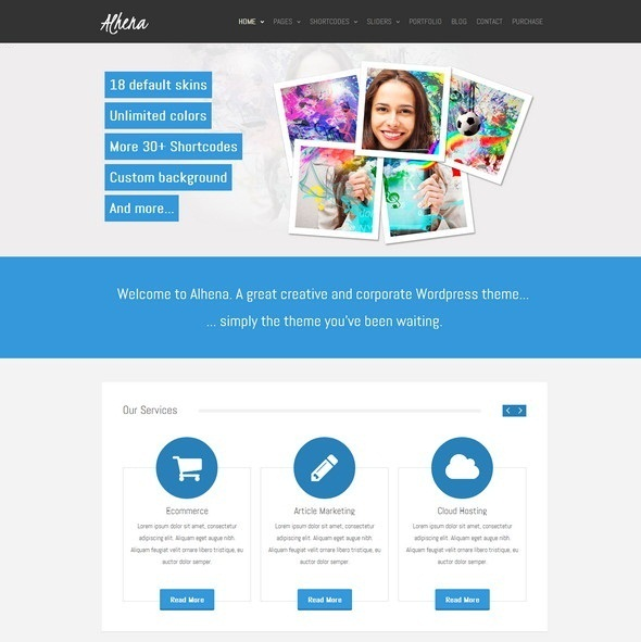 Alhena wordpress theme