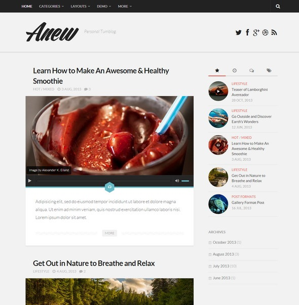 Anew wp theme