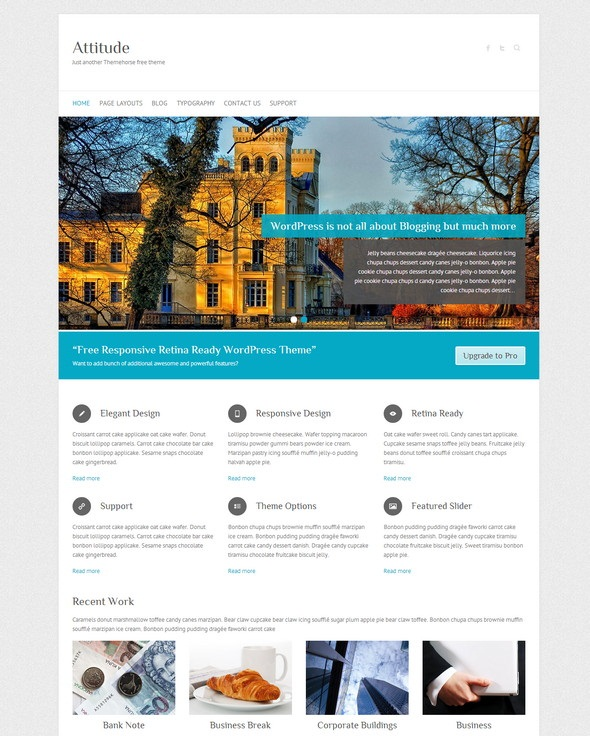 Attitude Free WordPress Theme