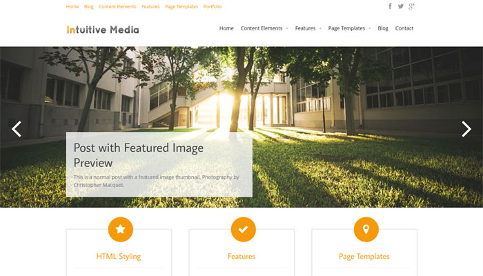 Intuitive Media wordpress theme