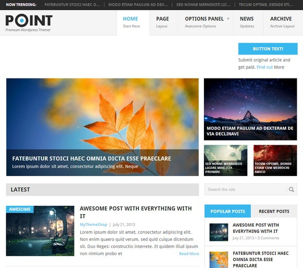 Point-Free WordPress Theme