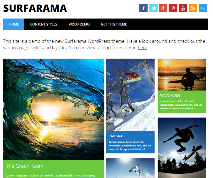 Surfarama wp theme