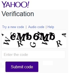 Yahoo Signup Captcha Text