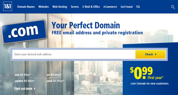 1and1 Best Domain Registrars 2020