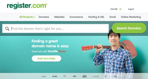 Register popular domain registrar