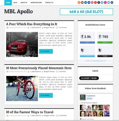 Apollo MBL Blogger Template
