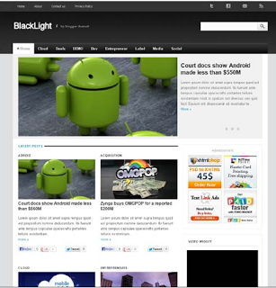 Backlight Blogger Template