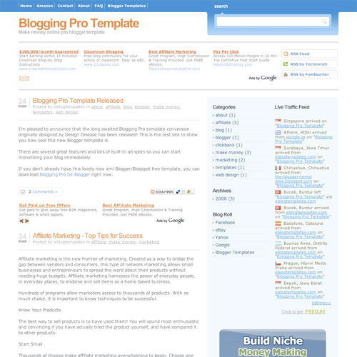 Blogger Pro Blogger Template