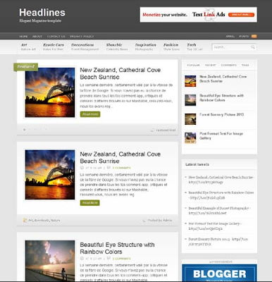 Headlines for Blogspot