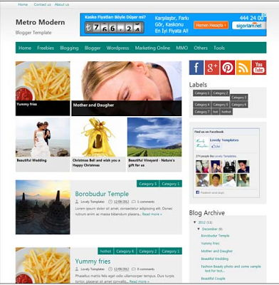 Metro Modern for Blogspot
