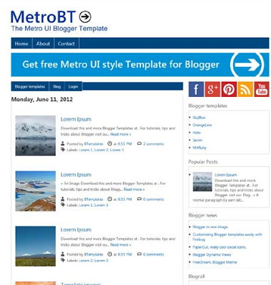MetroBT for Blogspot