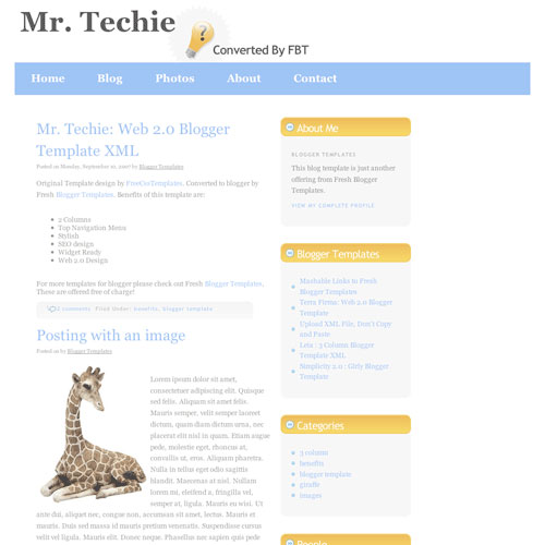 Mr.Techie for Blogspot