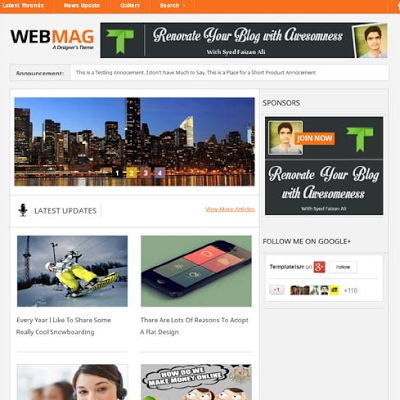 Webmag for blogspot