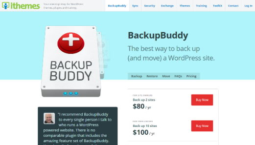 BackupBuddy essential WordPress Plugin