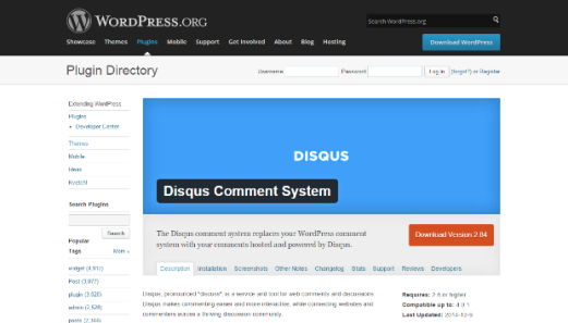 Disqus important plugin for wordpress site