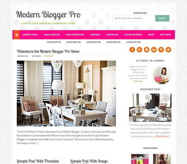 Modern Blogger Pro - Premium Genesis Child Themes