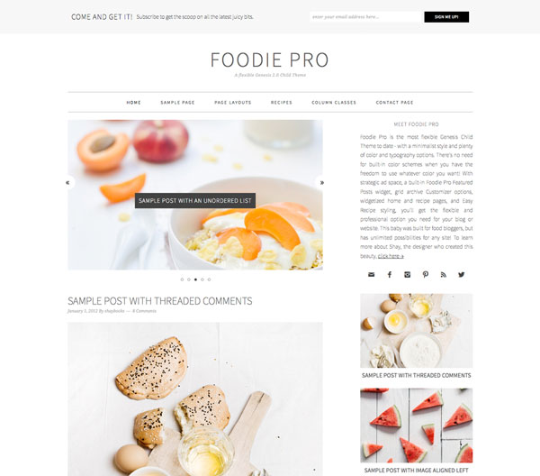 Foodie Pro Premium Genesis Child Themes