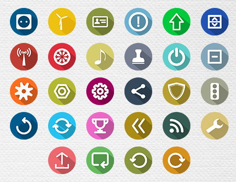 Long Shadow Free Icons Collection