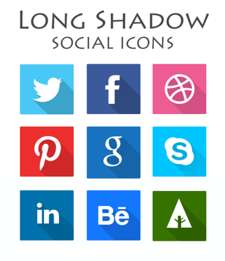 Long-Shadow-Social-Icon-sets