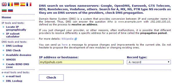Ceipam.eu DNS Propagation Check