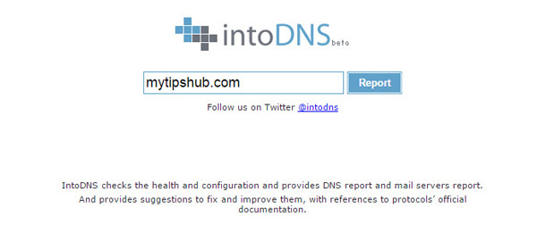 IntoDNS to Check DNS Propagation