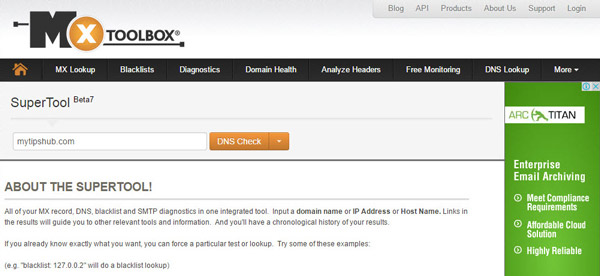 MX ToolBox Dns Propagation Checker