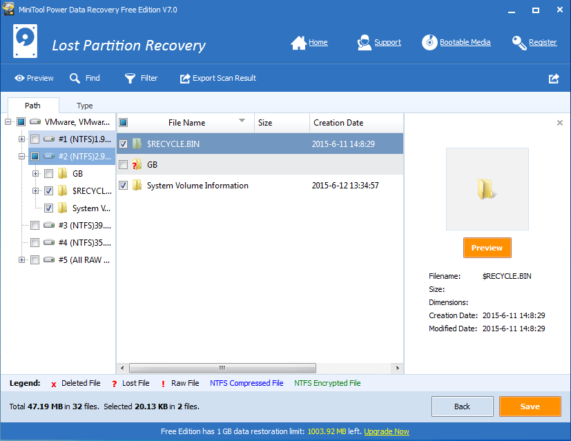 hard disk data restore
