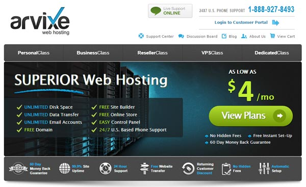 Arvixe Black Friday hosting
