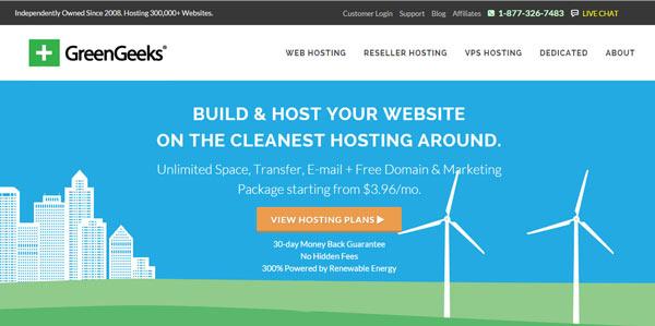 GreenGeeks best green wordpress hosting