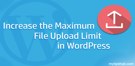 wordpress upload limit