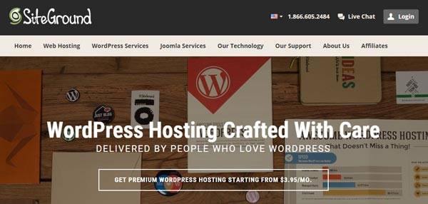 SiteGround best wordpress host