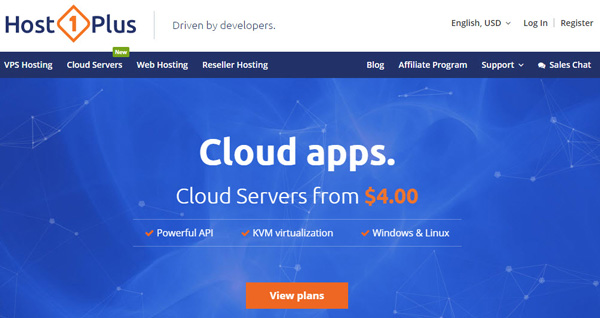Host1Plus unmanaged Cheap Cloud Host