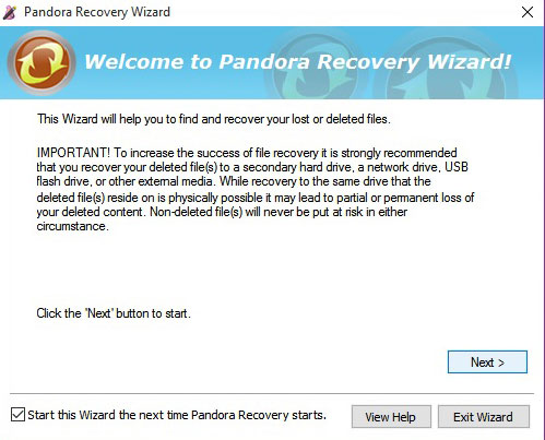 Pandora-Recovery-Wizard-Software