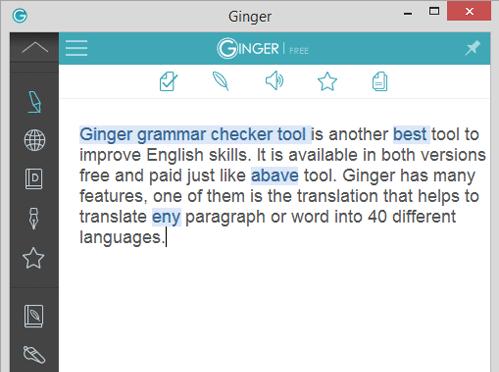 Ginger Online Editor