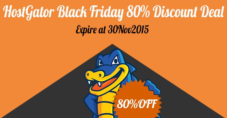 HostGator Black Friday 80 Discount
