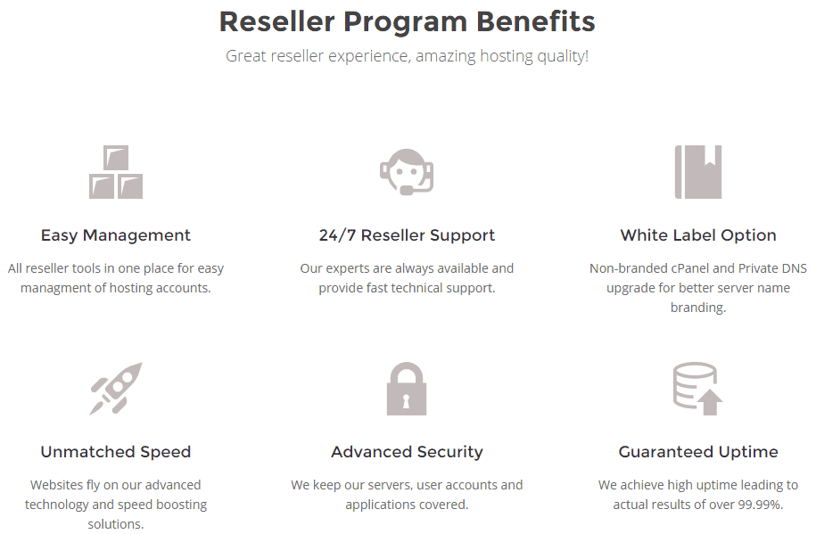 Reseller Program Benefits