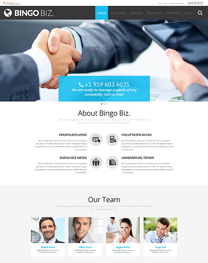 BingoBiz Corporate Identity WordPress Theme
