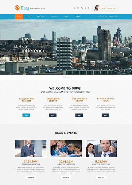 Burg WordPress Business Theme