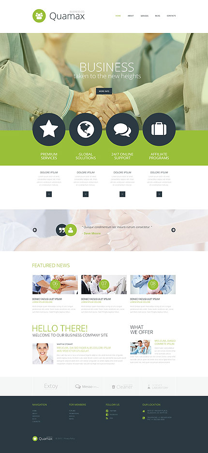 Business Co Quamax wp design