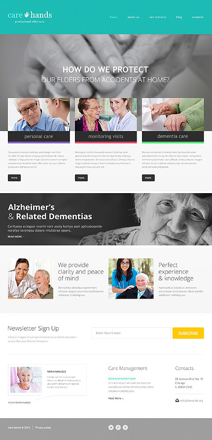 Care Hands Medical WP Template