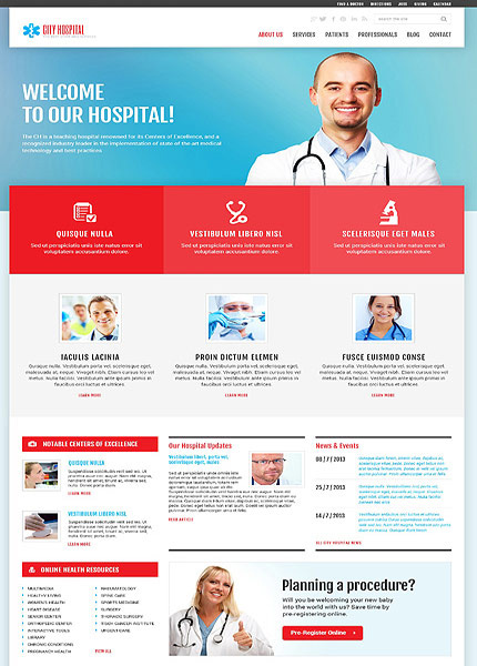 City Hospital Medical wp Theme