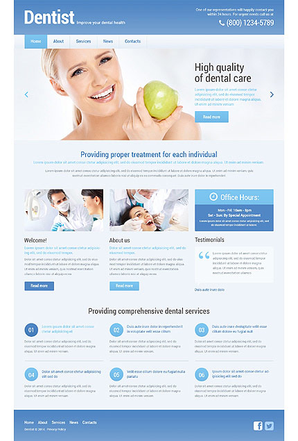 Dentistry Responsive WordPress Business Theme