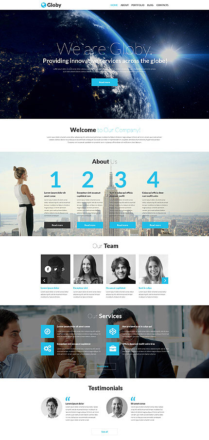 Globy best business wordpress design