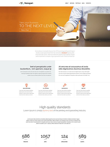 Narayan layout for wordpress
