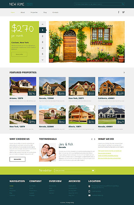 New Home business wordpress theme