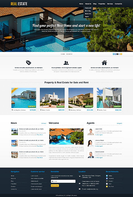 Real Estate Business wp Theme