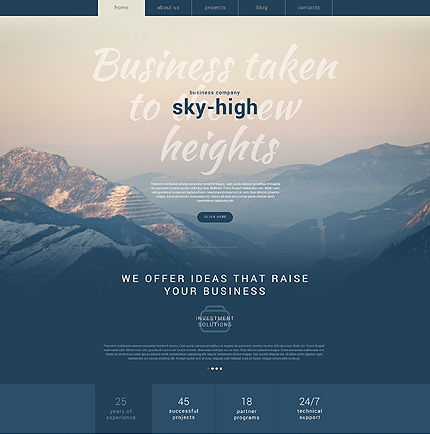 Sky-High Business Services Theme