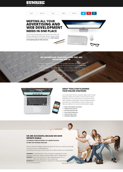 SunRise wordpress business theme