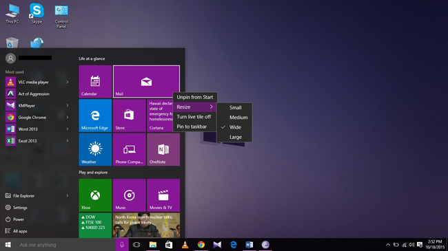 Windows 10 New Features- Start Menu is Back